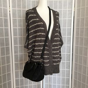 Free People Cozy Gray Dolman Sleeve Cardigan
